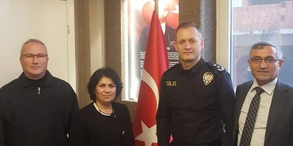 Photo of Sibel Solakoğlu Emniyet müdürü Keskin'i ziyaret etti