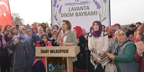 Kadınlar için 23 bin Lavanta Fidesi toprakla buluştu