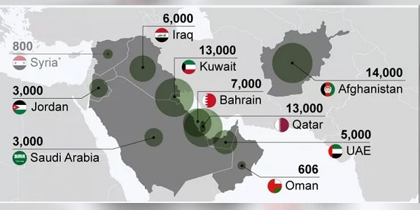 Photo of ABD'nin Ortadoğu'daki üsleri nerede ve ne kadar askeri var?