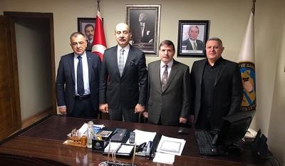 Kent konseyi üyeleri Faruk Demir'i makamında ziyaret etti