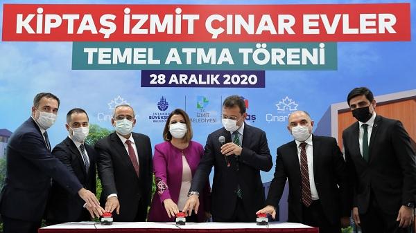 Photo of Kiptaş İzmit Çınar Evler'in temeli atıldı