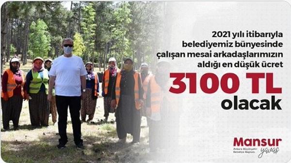 Photo of Mansur Yavaş işçilerinin 2021 yılı asgari ücretini açıkladı