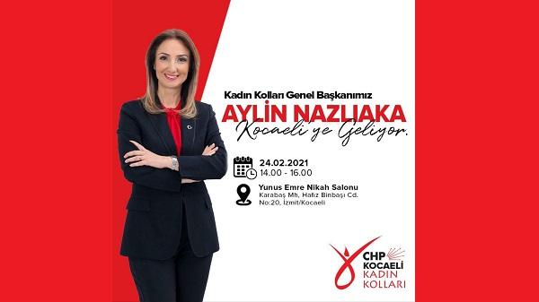 Photo of CHP Kadın Kolları Genel Başkanı Nazlıaka Kocaeli'ye geliyor