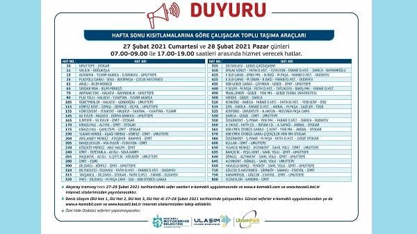 Photo of Hafta sonu Büyükşehir 55 hatta hizmet verecek
