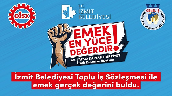 Photo of İzmit Belediyesi ve Genel İş Sendikası imzaları yarın atıyor